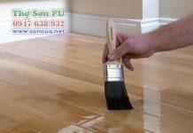 Thợ sơn sàn gỗ