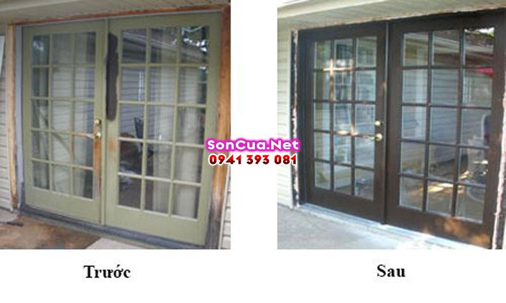 Dịch vụ sơn sửa cửa gỗ tại nhà Hà Nội